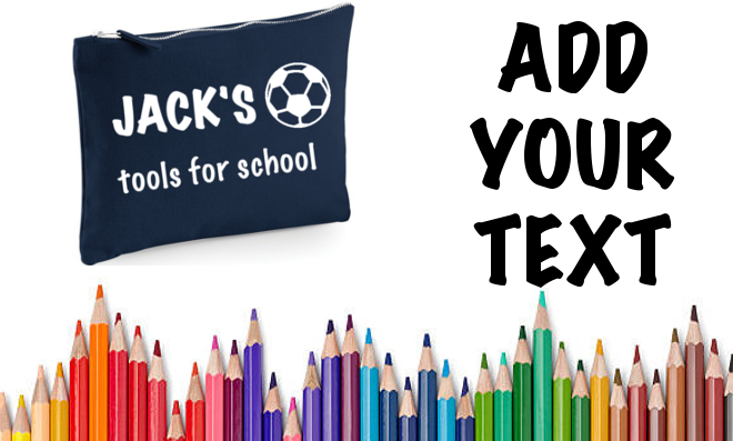 Personalised Back To School Pencil Case Kids College PERSONALISED PENCIL CASE
