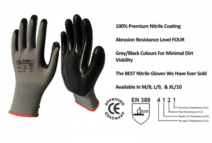 ULTIMATE COMFORT WORKING GLOVES BUILDERS GARDENING SAFETY NITRILE LATEX GLOVES